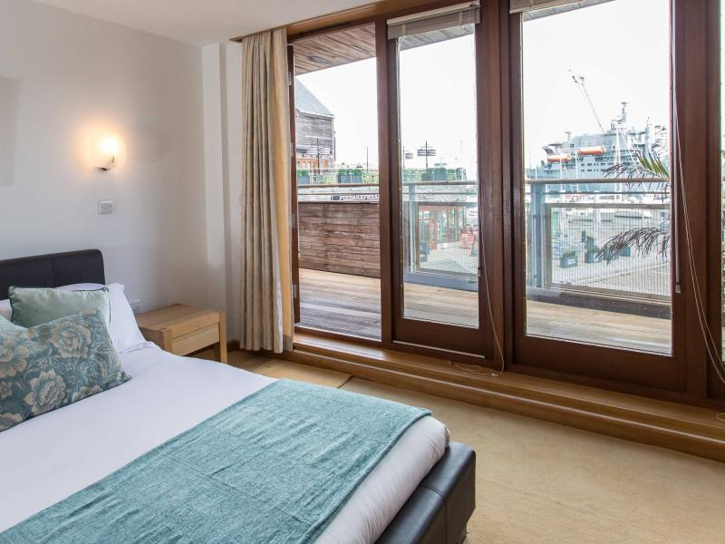 Master bedroom has access to the balcony and an en-suite shower room