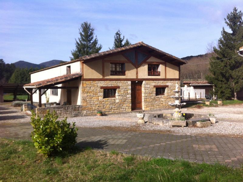 Les Reves in Arques, Aude, spacious 3 bed gite, pool, jacuzzi, wood burner, vacation rental in Serres