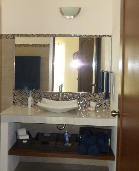 Large Marble Vanities in All Bathrooms