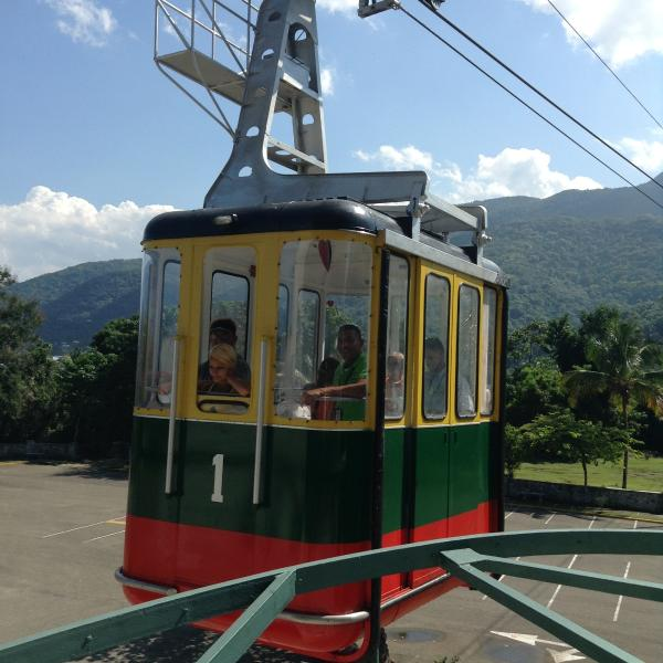 Cable car up Mount Isabel de Torres