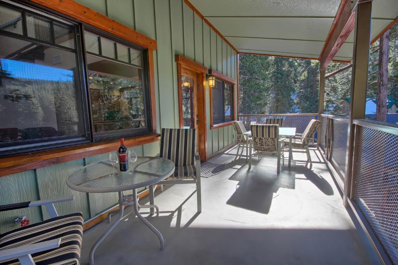 Plenty of Space and Seating on Outdoor Private Deck
