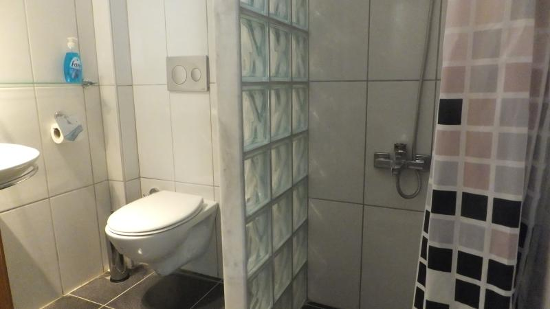 Shower and toilet on level 1 of the villa