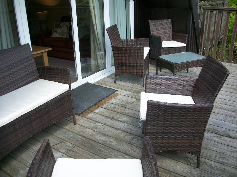 Patio Area with Rattan Furniture