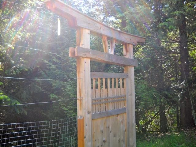 Back gate closeup