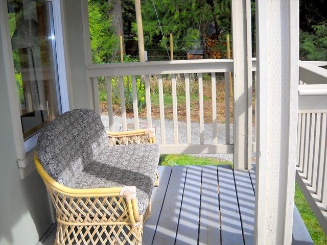 Loveseat on porch