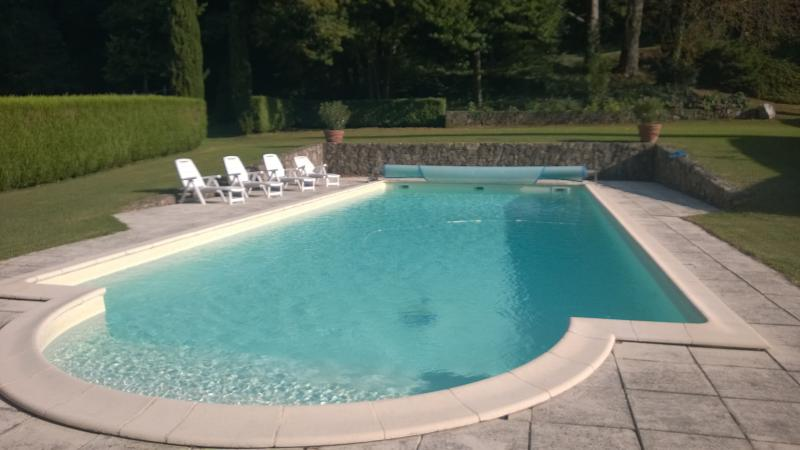 MANOR 1807 WITH PRIVATE SWIMMING POOL 16M X 6M, location de vacances à Satillieu
