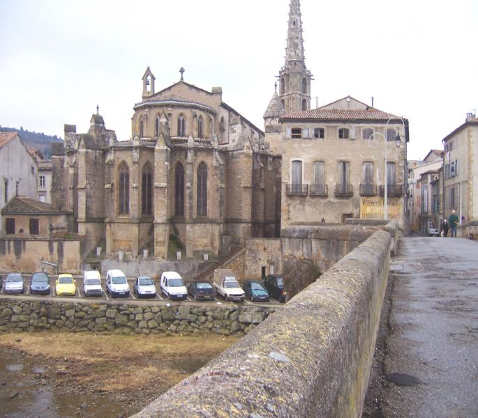 The Limoux Cathedral on the Aude River