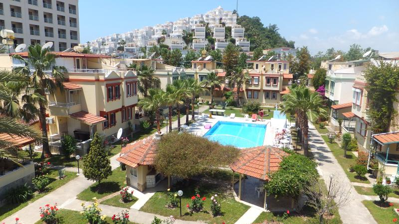 Bird view of the Konak I complex from the roof terrace