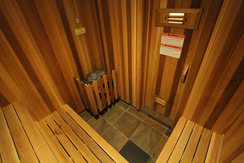 Custom built fir sauna