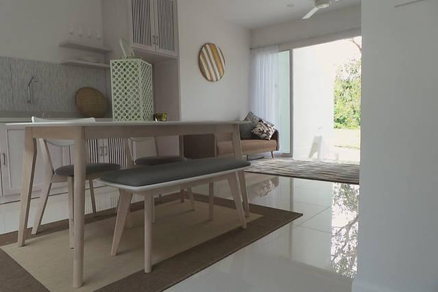 Soggiorno, cucina e pranzo spazio
