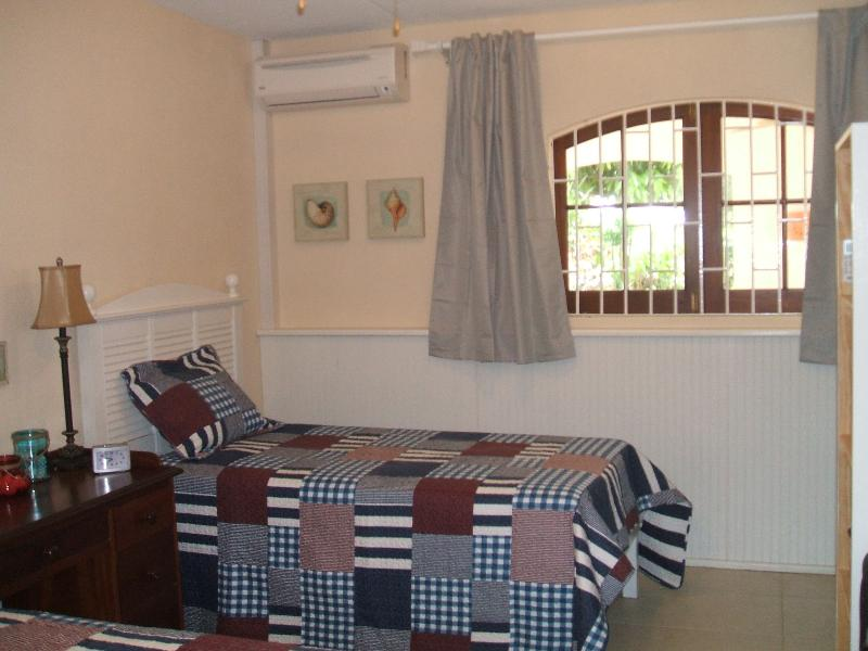 Second bedroom available to rent:  AC, room darkening blinds, huge window, decorative touches.