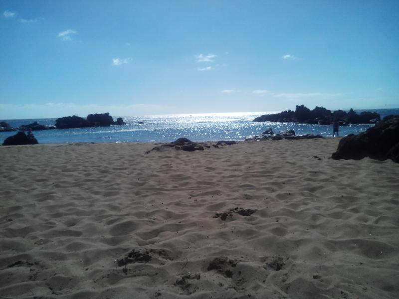 The beach is not far away. (Playa Chica)