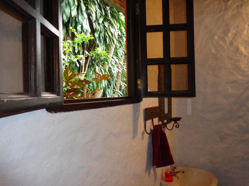 View from bathroom # 2 in hallway to the outside