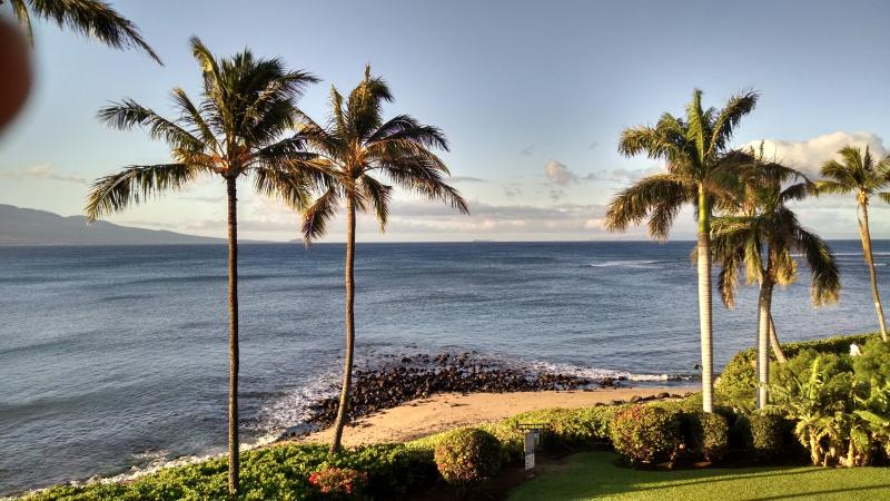 Our private beach as seen from the Lanai