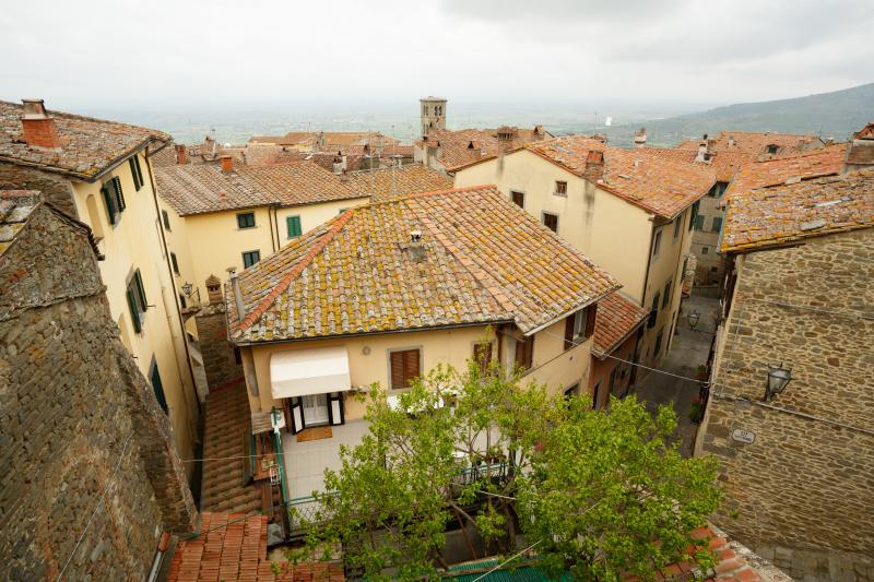 View from Lounge over Cortona rooftops