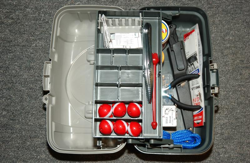 We provide 2 fishing poles and a fully equiped tackle box with bait, chairs and cooler.