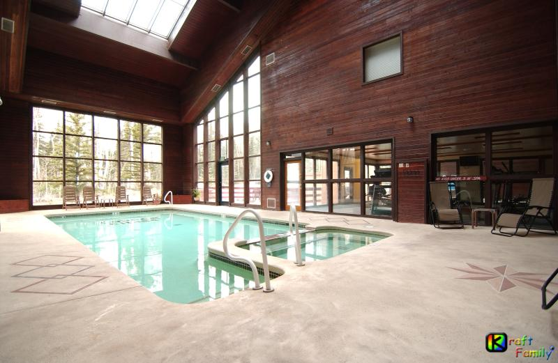 Solarium intérieur piscine/Jacuzzi, sauna mens/womens adjacent à un centre de fitness.