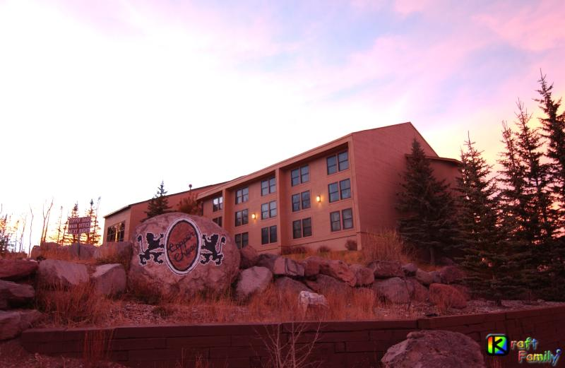 Copper Chase Lodge building with pool/Jacuzzi, fitness center, Copper Lounge and laundry facility.