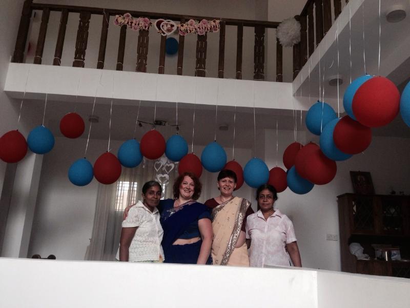 Wedding Team in the villa