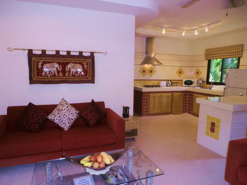Fitted Kitchen Adjoining the Living Room