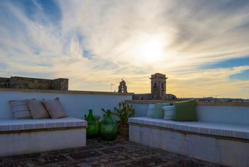 Sunset on Rooftop Terrace