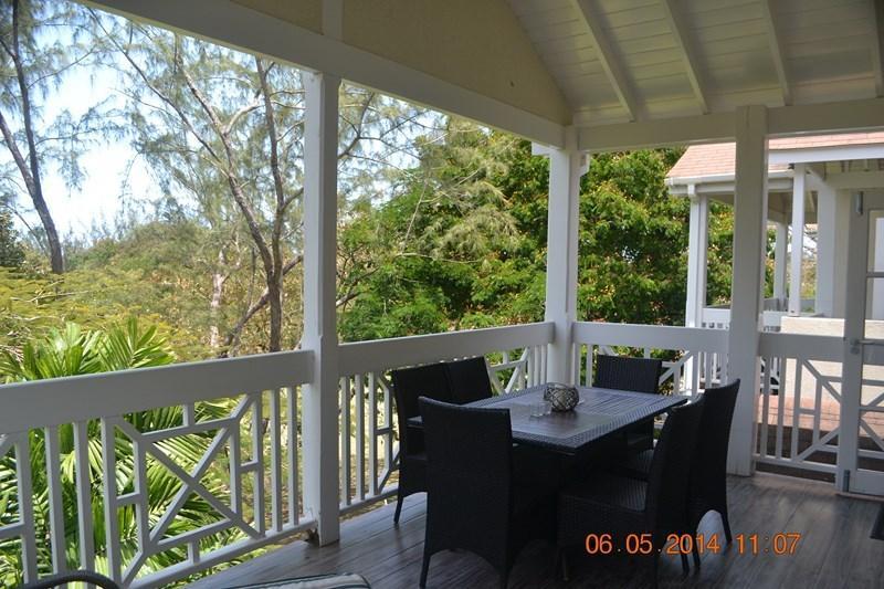 Terrace nestled in the trees