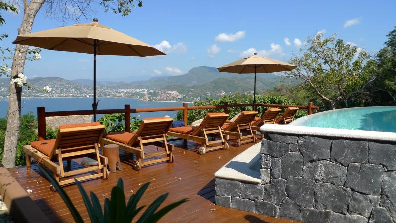 At Solana the view of Zihuatanejo bay is mesmerizing