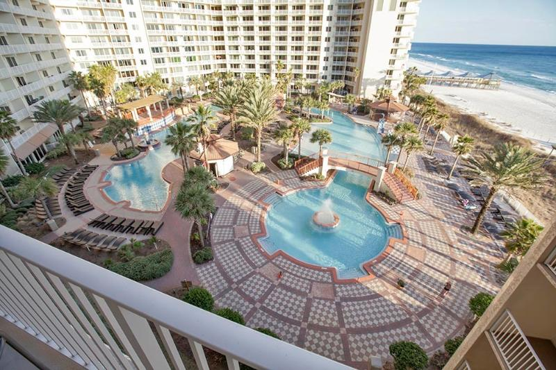 View of Pool & Beach from Balcony