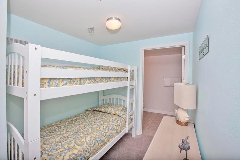 Área de beliche com camas Twin