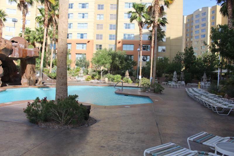 One of the Outside Many Pools which One is Heated all year long.