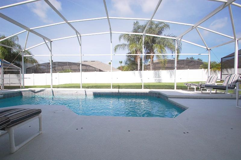 Beautiful West facing pool which has the sun from morning until it goes down at night