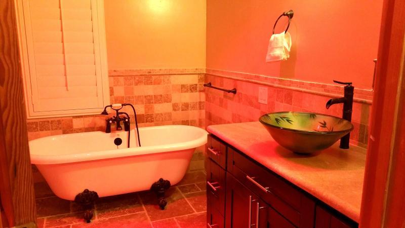 Bathroom #3 with claw foot tub