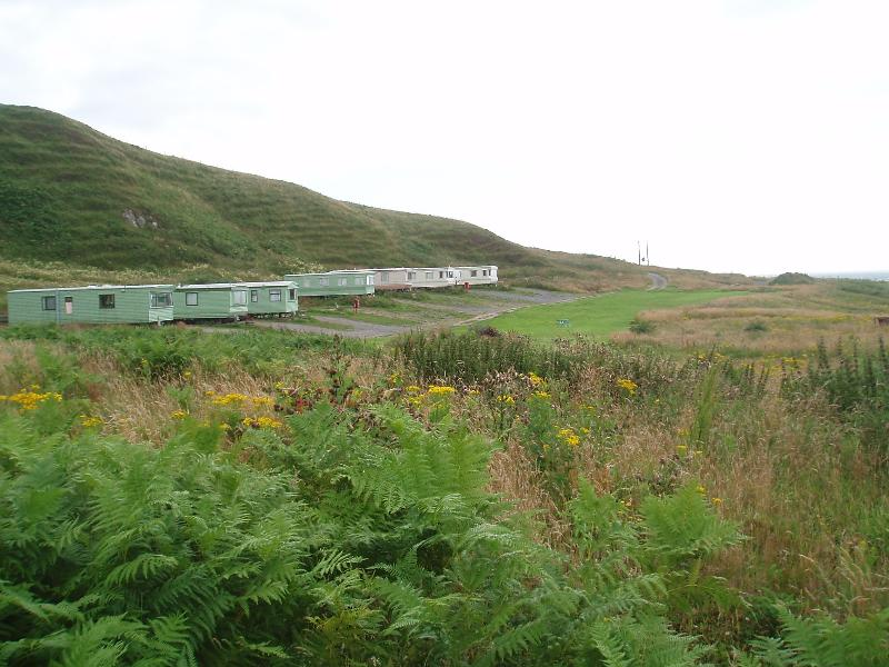 view of the caravan site