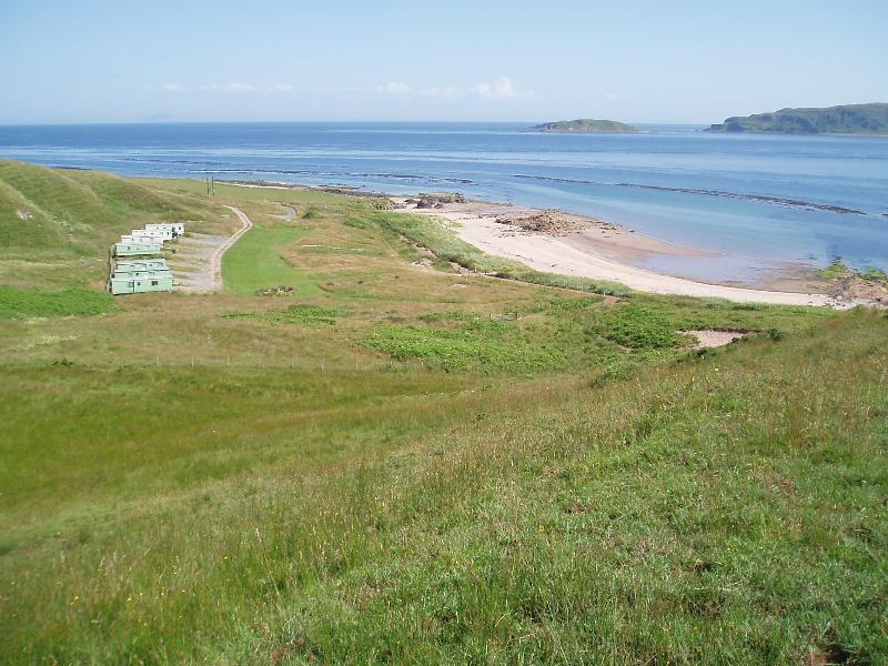 View of caravan site