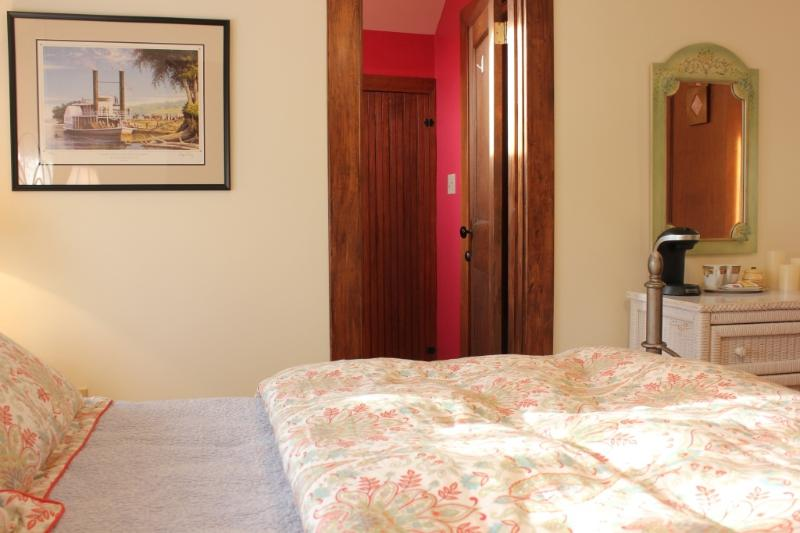Liberty Room with a queen bed and private bath.