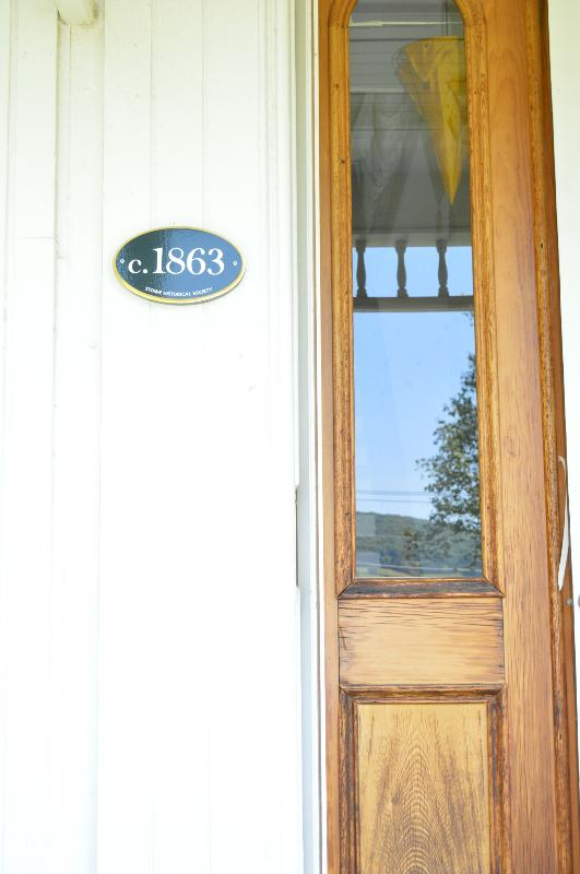 Front door for our guests