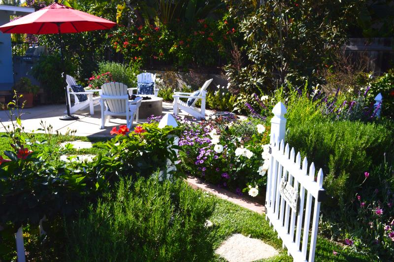 The private garden is stunning and was featured on the Encinitas Garden Tour.