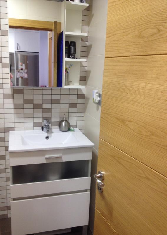 Washbasin, cupboard, Towel dryer...