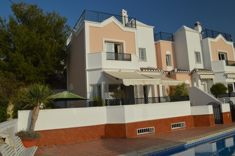 Beautiful Villa in Nerja, with 4 terraces, including roof terrace with fantastic panorama view.