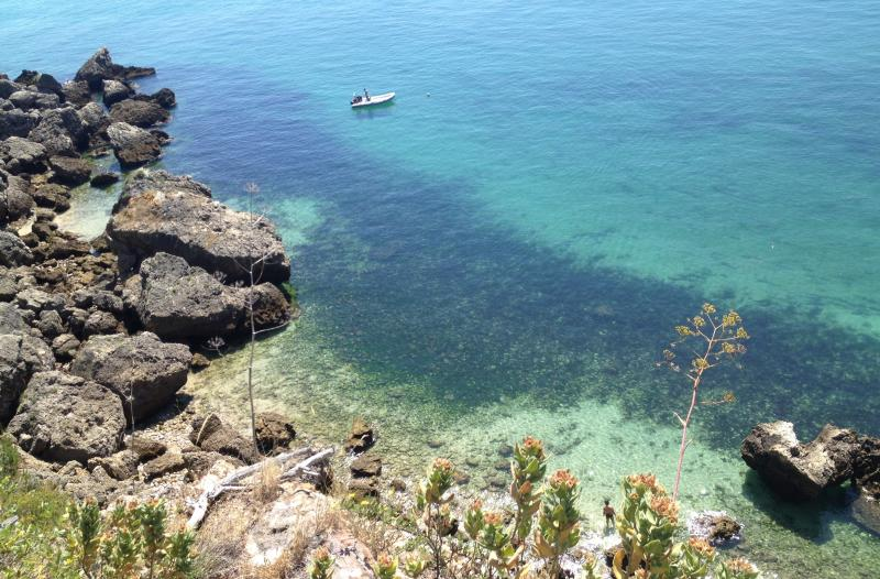 Alportuche beach, a hidden gem right in front of the house. A snorkeling paradise