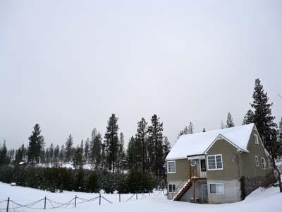 View of Home in the Snow