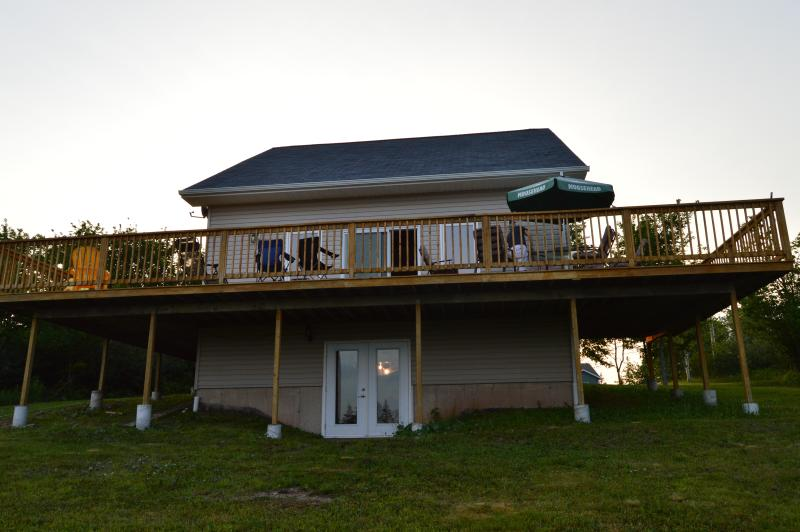Ocean Facing side, with large wrap around deck