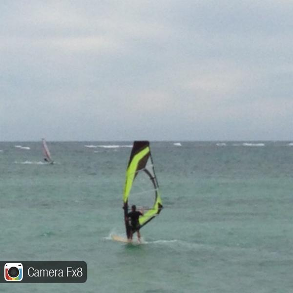Wind surfers show how it is done
