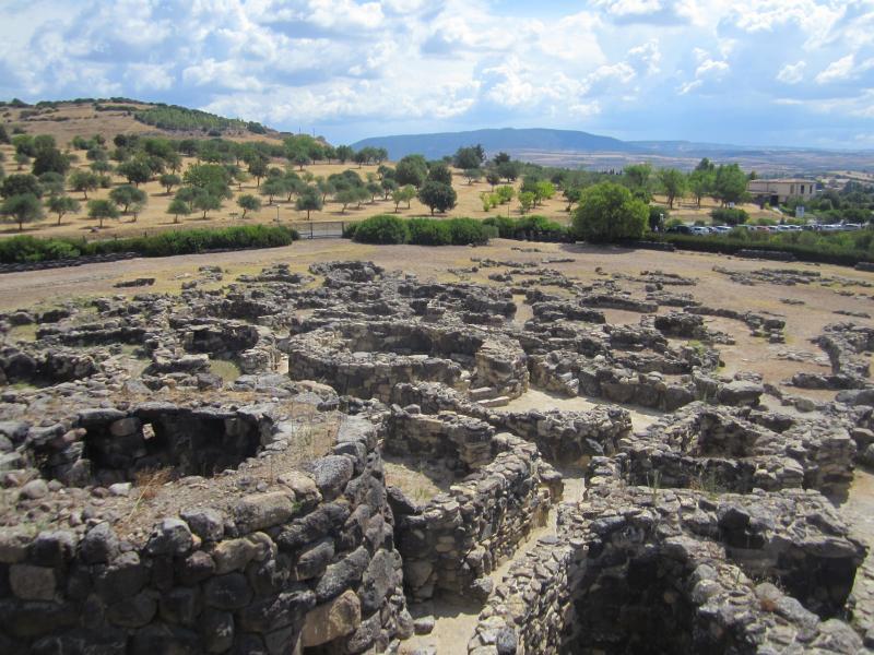 Remains of the Nuraghi civilisation.