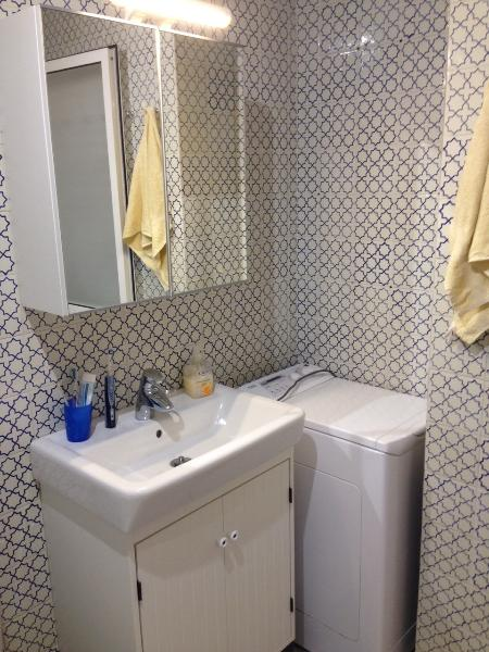 Bathroom sink and washing machine
