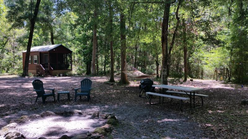 barbque, picnic, relax on hammock, have a campfire in your own private area