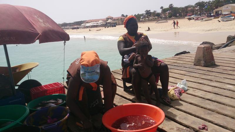Fresh fish on Santa Maria pier
