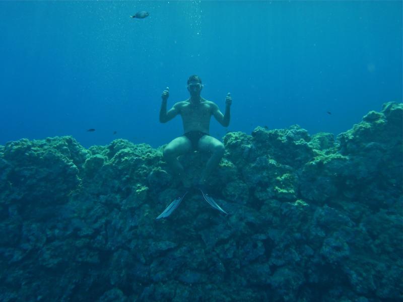Me, snorkeling in Ustica!