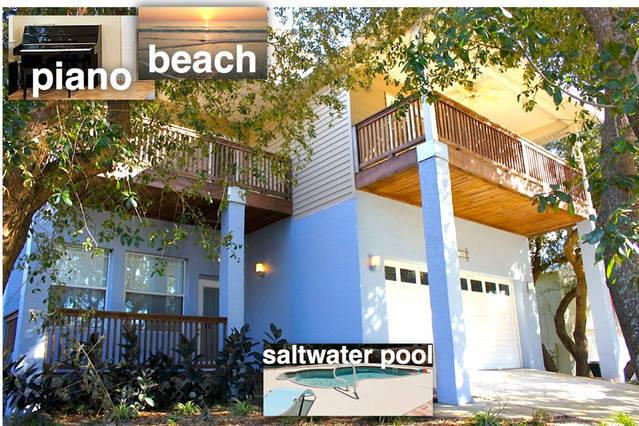 Green Modern newer beach house with private heated pool, holiday rental in Saint Augustine Beach