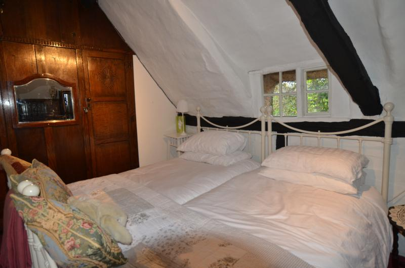 Sleep peacefully under the eaves in the twin bedroom